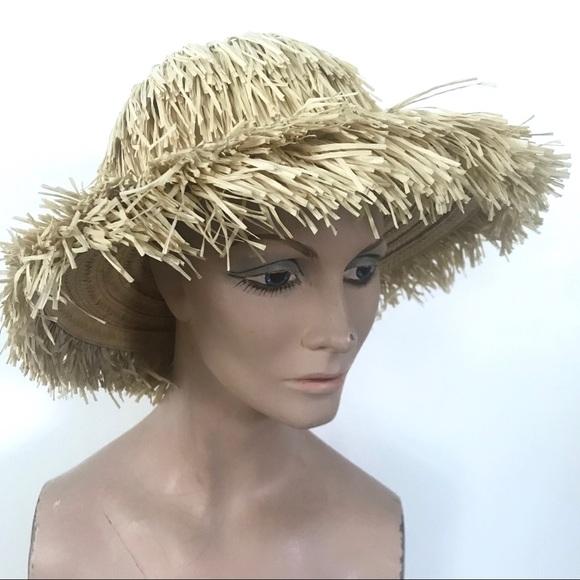 """ce802e68bfb Vintage 1950 s """"Happy Capper"""" straw sun hat"""